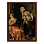 Tobit y Ana con el niño Bokje de Rembrandt Van Postales