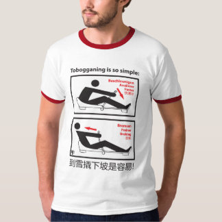 Tobogganing is so simple! T-Shirt