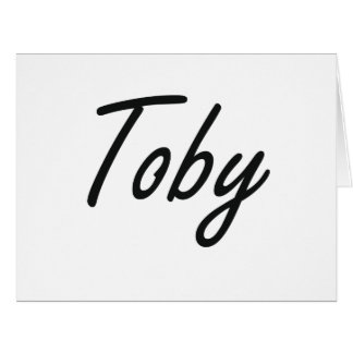 Toby Artistic Name Design Large Greeting Card