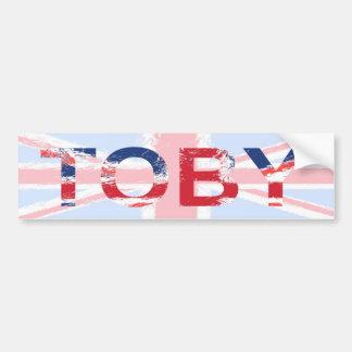Toby Bumper Sticker