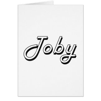 Toby Classic Retro Name Design Greeting Card