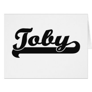 Toby Classic Retro Name Design Large Greeting Card