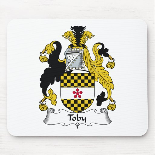 Toby Family Crest Mouse Mats