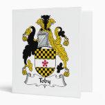 Toby Family Crest Vinyl Binder