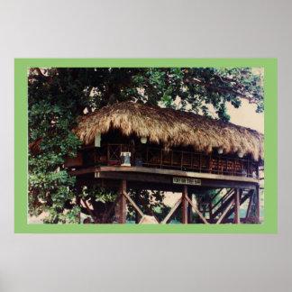 Toby Inn Tree House Bar, Montego Bay, Jamaica Poster