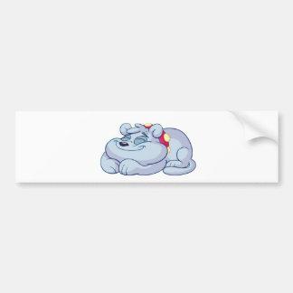 Toby is sleeping bumper sticker