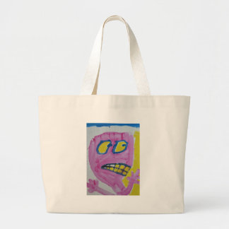 Toby - Pink portrait - Silly Large Tote Bag