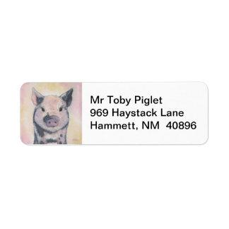 Toby the Piglet return address label