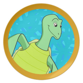 Toby Turtle Party Plate
