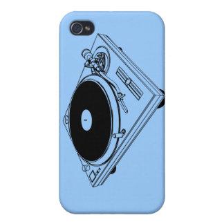 Tocadiscos 33rpm 45rpm del álbum del disc jockey d iPhone 4 funda