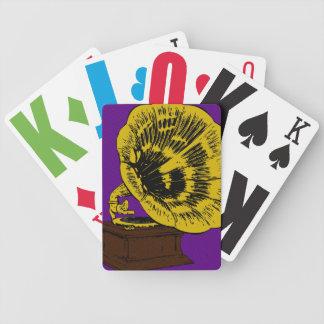 Tocadiscos de antaño cartas de juego