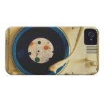 Tocadiscos del vintage iPhone 4 Case-Mate cárcasa