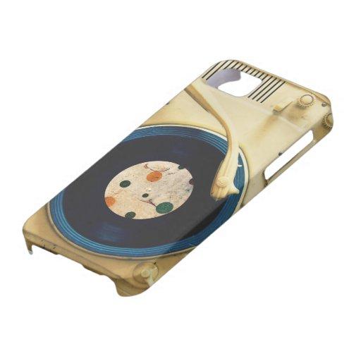 Tocadiscos del vintage iPhone 5 carcasa