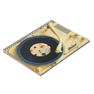 Tocadiscos del vintage cuadernos