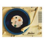 Tocadiscos del vintage tarjetas postales