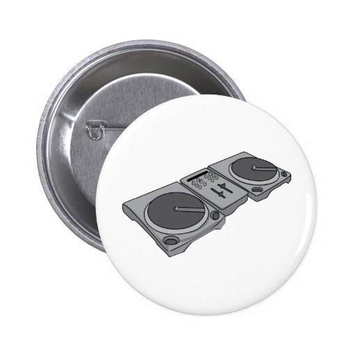 Tocadiscos DJ del fonógrafo de la placa giratoria Pins