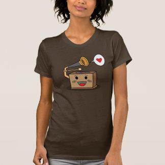 Tocadiscos lindo - camiseta de las señoras