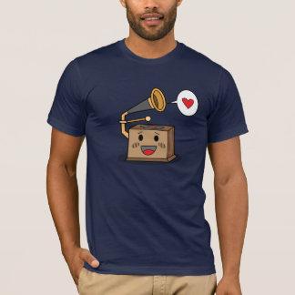 Tocadiscos lindo - la camiseta de los hombres