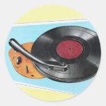 Tocadiscos retro del fonógrafo del kitsch del etiquetas redondas