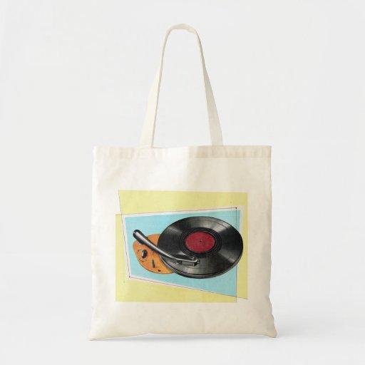 Tocadiscos retro del fonógrafo del kitsch del vint bolsas