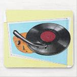 Tocadiscos retro del fonógrafo del kitsch del vint tapete de ratones