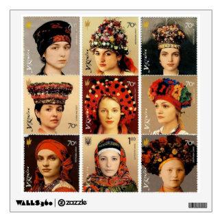 Tocados ucranianos vinilo decorativo
