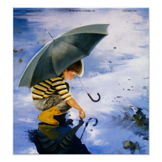 Tocando el cielo (impresión de la lona) póster