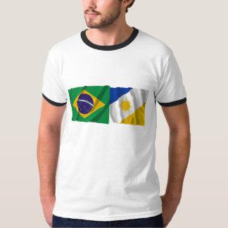 Tocantins y banderas que agitan del Brasil Camisas