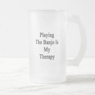 Tocar el banjo es mi terapia taza