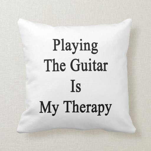 Tocar la guitarra es mi terapia almohadas