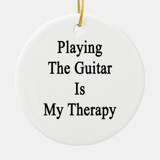 Tocar la guitarra es mi terapia adorno de navidad
