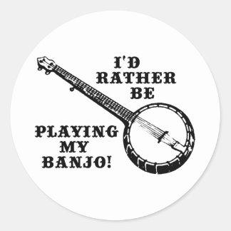 Tocar mi banjo pegatina redonda