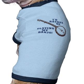 Tocar mi banjo camiseta con mangas para perro