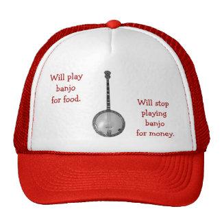 Tocará el banjo para el gorra de la comida