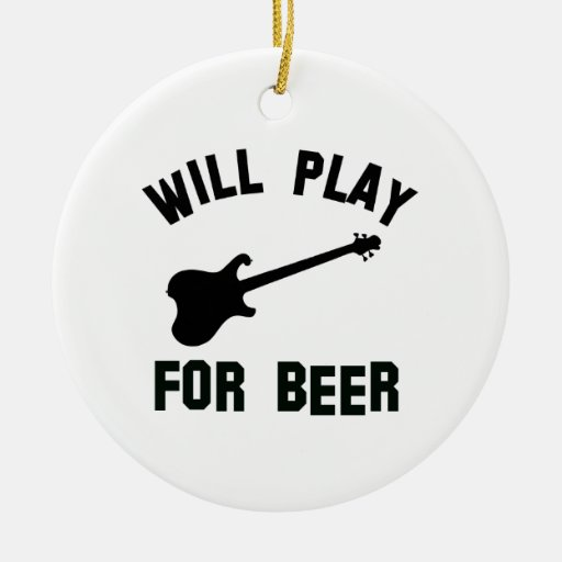 Tocará la guitarra eléctrica para los diseños de l ornaments para arbol de navidad