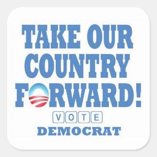 TOCF-Vote Democrat - Sq Stickers