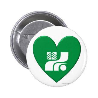 Tochigi Prefecture Flag Heart Pinback Button