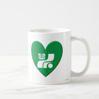 Tochigi Prefecture Flag Heart Coffee Mug