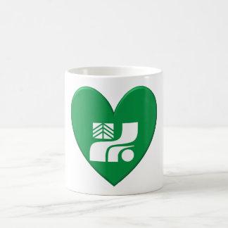 Tochigi Prefecture Flag Heart Mug