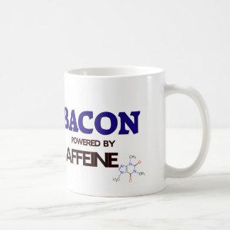 Tocino accionado por el cafeína taza básica blanca