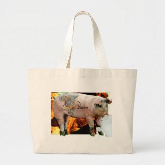 tocino ahumado bolsa lienzo