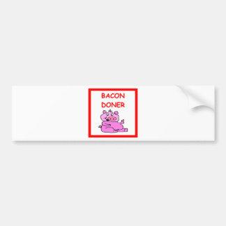 tocino etiqueta de parachoque
