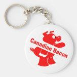 Tocino canadiense llaveros personalizados