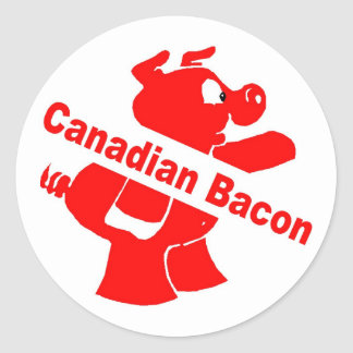Tocino canadiense etiqueta redonda