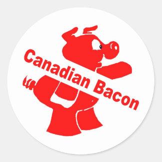 Tocino canadiense pegatina redonda