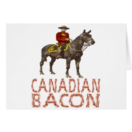 Tocino canadiense tarjeta de felicitación