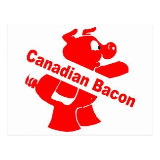 Tocino canadiense tarjetas postales