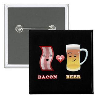 Tocino + Cerveza en el amor (bkgd negro) Pins