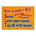 Tocino cómo hacer un bocadillo de BLT Felicitaciones