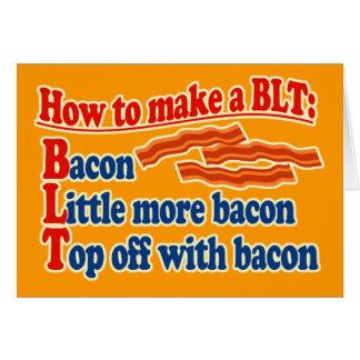 Tocino cómo hacer un bocadillo de BLT Tarjeta De Felicitación